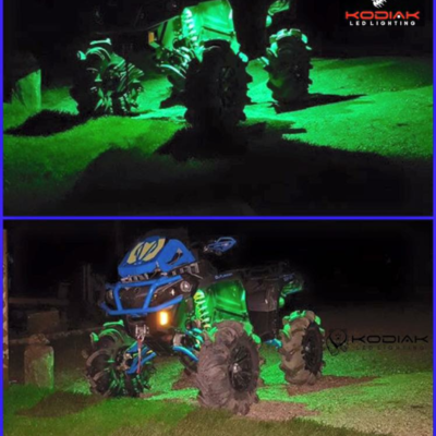 4 piece RGBW rock light kit