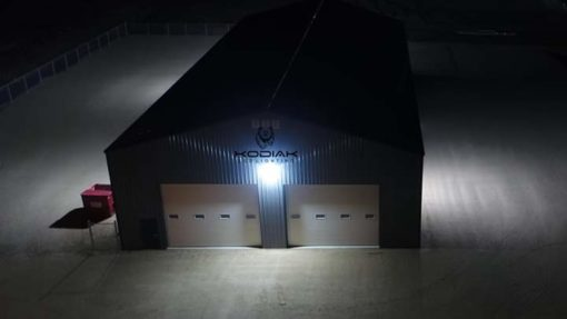 100 watt led wall pack aerial view