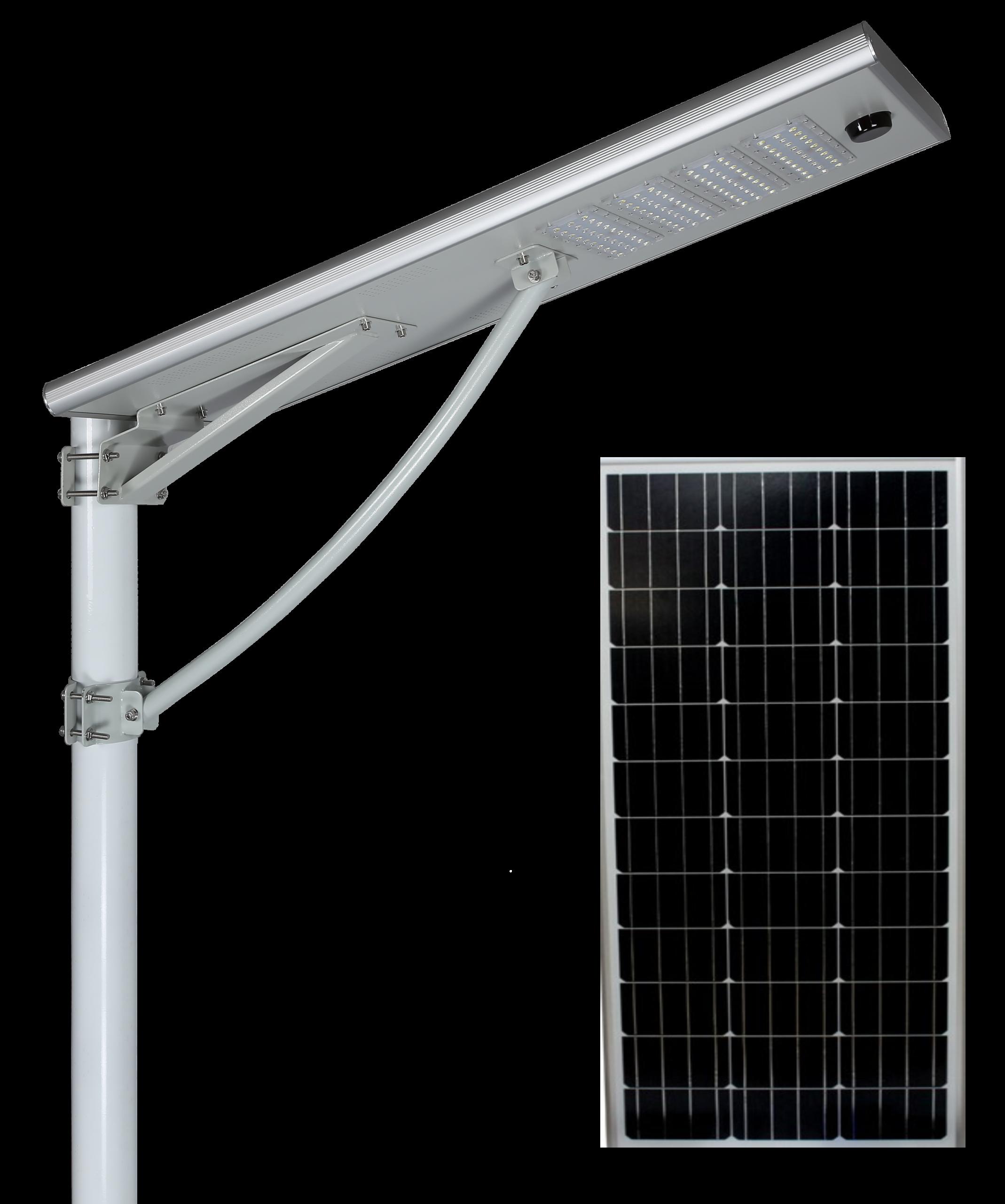 100w solar integrated area light