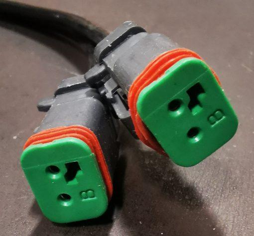 Dual connector Y adaptor
